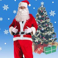Santa Clause costume from http://christmasworld.com.au