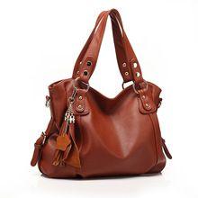 2015 moda em couro bolsa mulheres bolsas de couro saco de borla portátil mulheres mensageiro saco de marca bolsa Vintage 2 cores(China (Mainland))