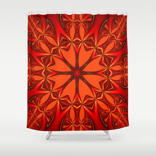 10 Ideas About Orange Shower Curtains On Pinterest