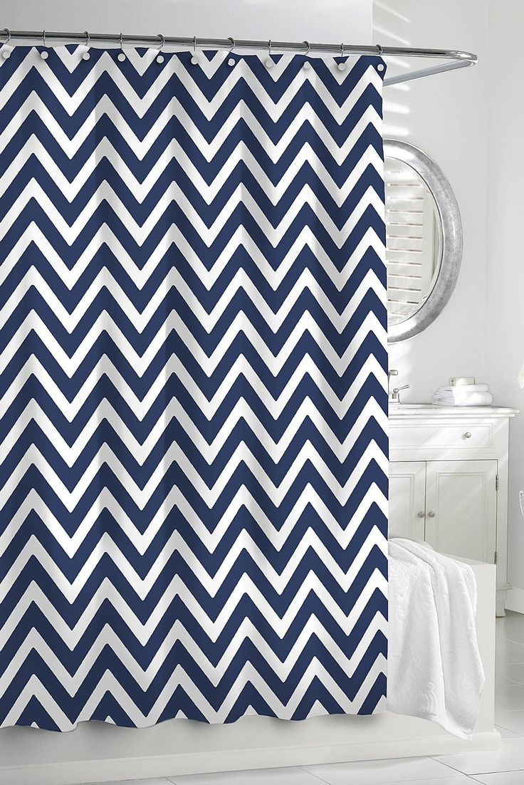 Black and white chevron curtain - 17 Best Images About Shower Curtains On Pinterest Extra Long Shower Curtain Drop Cloth Curtains And Ruffled Shower Curtains