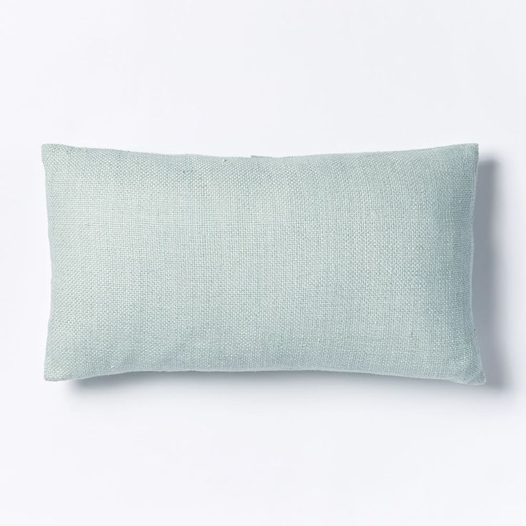 Silk Handloomed Lumbar Cushion Cover - Pale Harbor