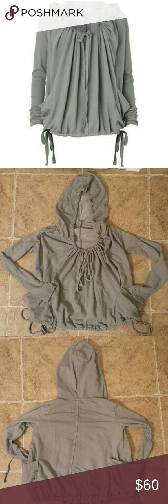 All saints Locksley drawstring hoodie Has a VERY faint mark circled with the red paper. All tags removed. I'm a sz US 2/4 small UK 6/8 in tops. This is oversized in the body but the arms are fitted true to size. Top is size UK 6. very comfy. All Saints Sweaters