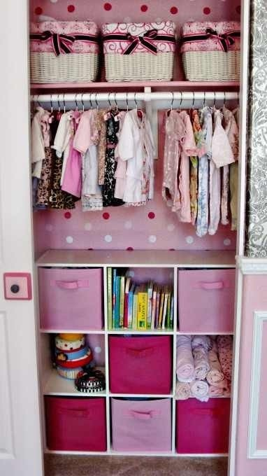 Closet organization for our already spoiled little girl