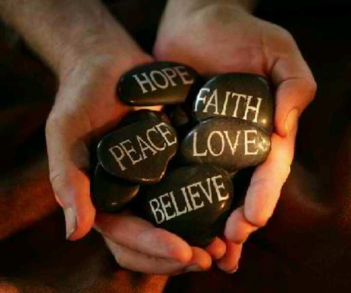 Hope Faith Believe Love Peace: Life Coach, Inspiration, Quotes, Hands, Faith, Law Of Attraction, Peace, Cores Values, Stones