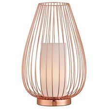 The Danny Modern Wire Cage Copper LED Table Lamp With Shade
