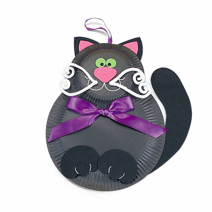 black cat paper craft black cat paper plate craft kits 3458