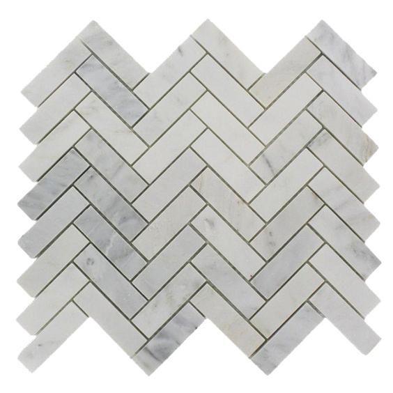 Herringbone Mosaic Oriental White Polished 1x3 Mosaic Flooring Stone Mosaic Wall Marble Mosaic Floor