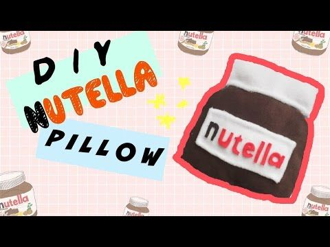 DIY Room Decor • Nutella Pillow (No Sew) • heartcindy - YouTube