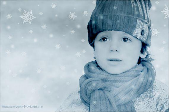 Ideas para retocar fotos infantiles con motivos navideños | Adarve Photocollage, borrado de fondos