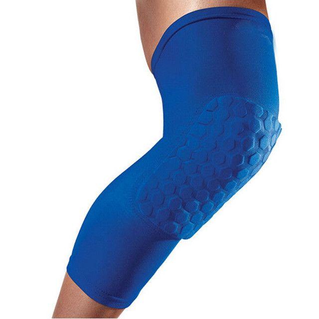 Professional Breathable Sports Men Honeycomb Long Knee Support Brace Pad Protector Sport Basketball Leg Sleeve Sports Kneepad