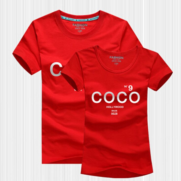 Cheap couple outfits, Buy Quality brand t-shirt women directly from China cc t shirt Suppliers: CC T Shirt Women 2017 Summer Style Lovers TShirt Short Sleeve Cotton Letter Print COCO Channel T-Shirt Women Brand Couple Outfit