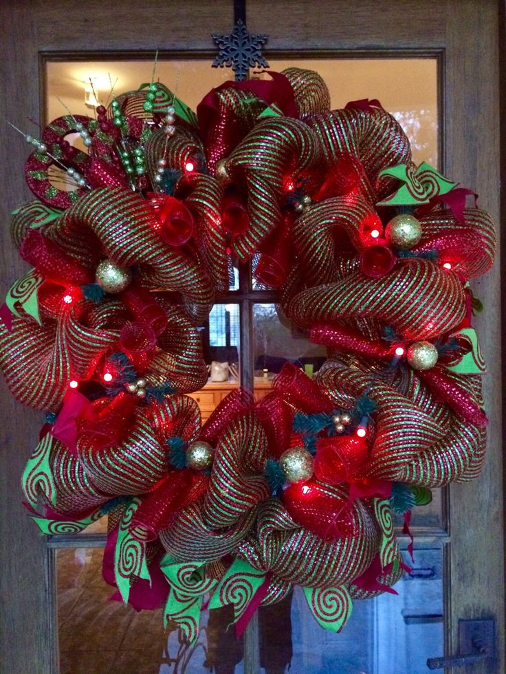 A personal favorite from my Etsy shop https://www.etsy.com/listing/481683894/lollipop-lane-wreath