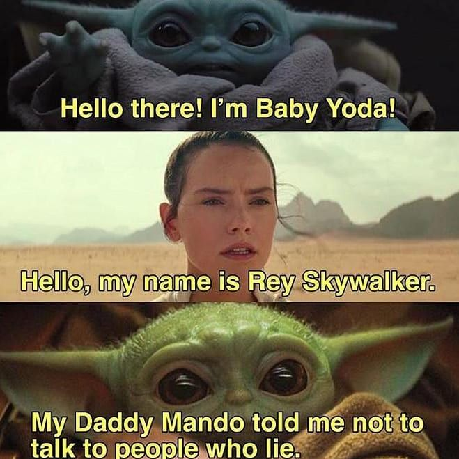 Should Rey Be Considered A Skywalker Or A Palpatine Comment Star Wars Humor Yoda Palpatine Meme