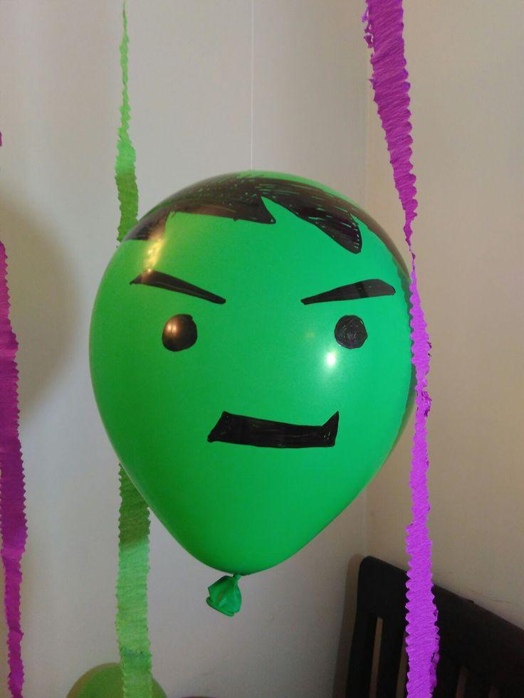 Hulk Balloon ..used marker pen