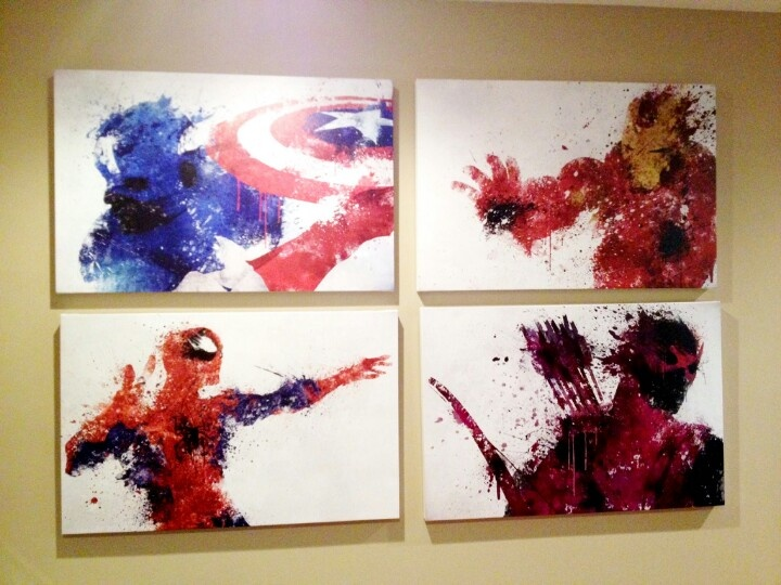 Marvel Themed Room Endearing 25 Best Marvel Wall Art Ideas On Pinterest  Marvel Room Comic Review