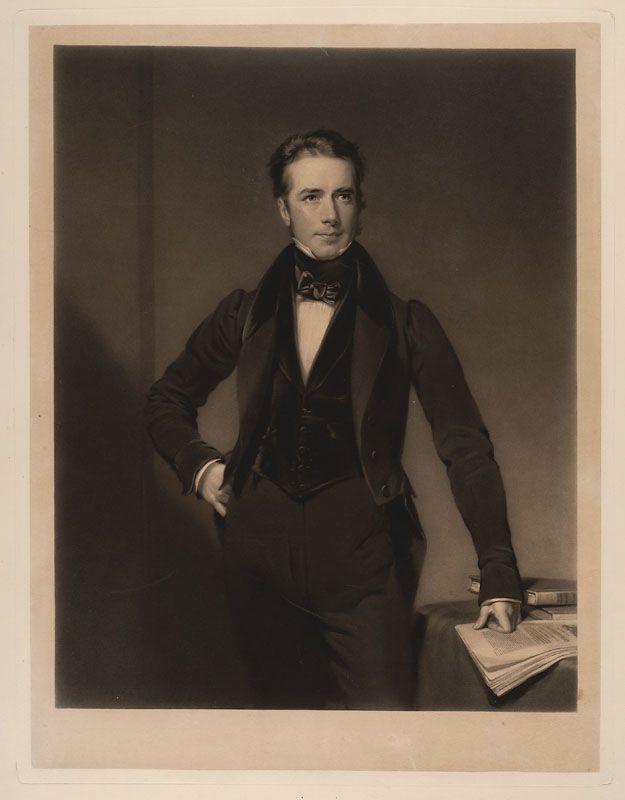 Sir William Webb Follett ( 02/12/1796 - 28/06/1845), um advogado Inglês e político que serviu como um membro do Parlamento de Exeter (1835-1845). Serviu duas vezes como procurador-geral em 1834-1835 e 1841, e, como procurador-geral para a Inglaterra e País de Gales em 1844. Mezzotinto sobre papel. Data e artista desconhecidos. Encontra-se na Biblioteca da Faculdade de Direito de Harvard, Cambridge, Massachusetts, USA.