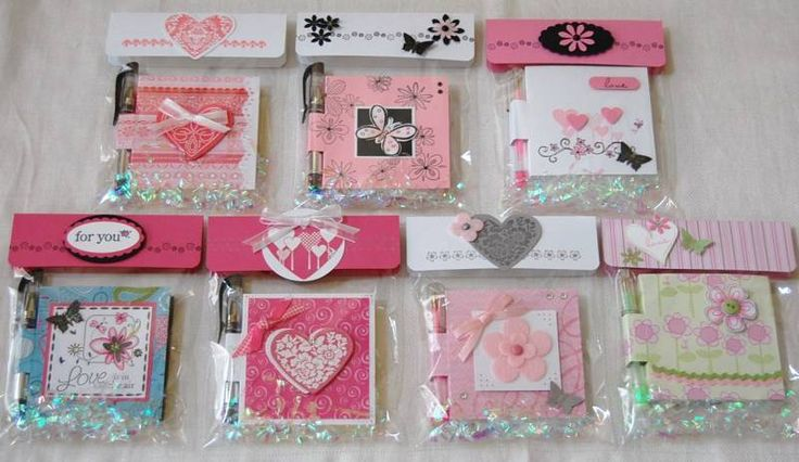 Post-it Noteholders - Pinks by rosekathleenr - Cards and Paper Crafts at Splitcoaststampers