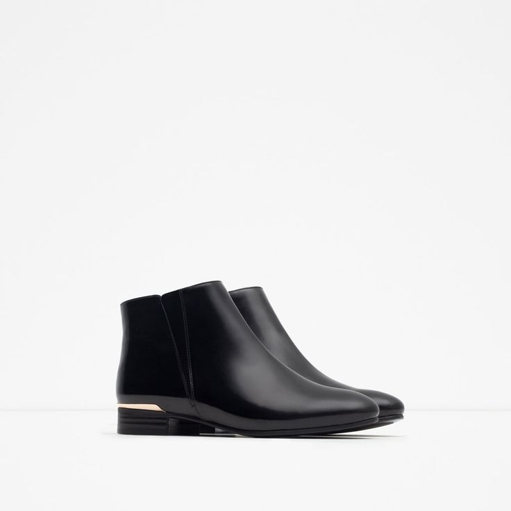 FLAT ANKLE BOOTS WITH METAL DETAIL-Boots and ankle boots-Shoes-WOMAN | ZARA United States