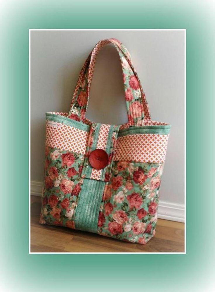 Rose Fabric Bag Tutorial