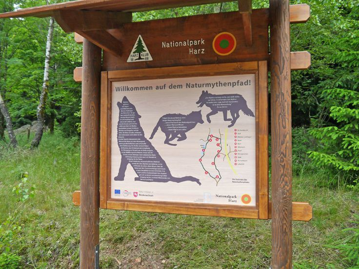 Der ca. vier Kilometer lange Naturmythenpfad führt mit zehn verschiedenen Stationen durch den Nationalpark Harz - ein idealer Familienwanderausflug bei Braunlage ... - Bergleben