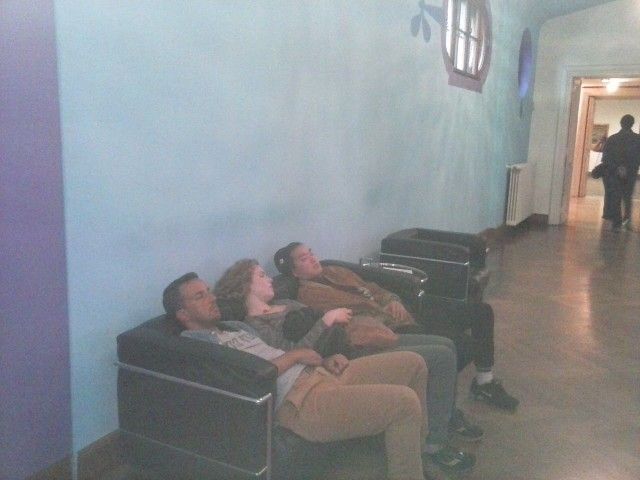 Sleeping tourists ;-) @Oberes Belvedere Vienna