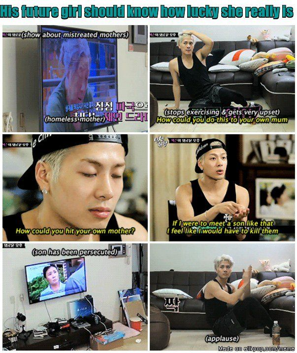 A man who treats his mother like Jackson, speaks volumes of how he would treat a girl | allkpop Meme Center