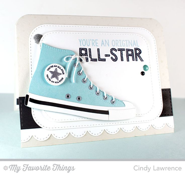 Be Original, Swiss Dots Background, All-Star High Top Die-namics, Stitched Rounded Rectangle STAX Die-namics, Stitched Scallop Edges Die-namics, Vertical Stitched Strips Die-namics - Cindy Lawrence #mftstamps