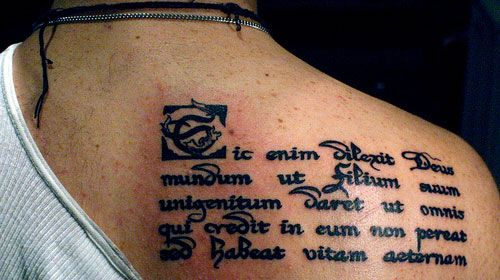 25 Holy Bible Scripture Tattoos