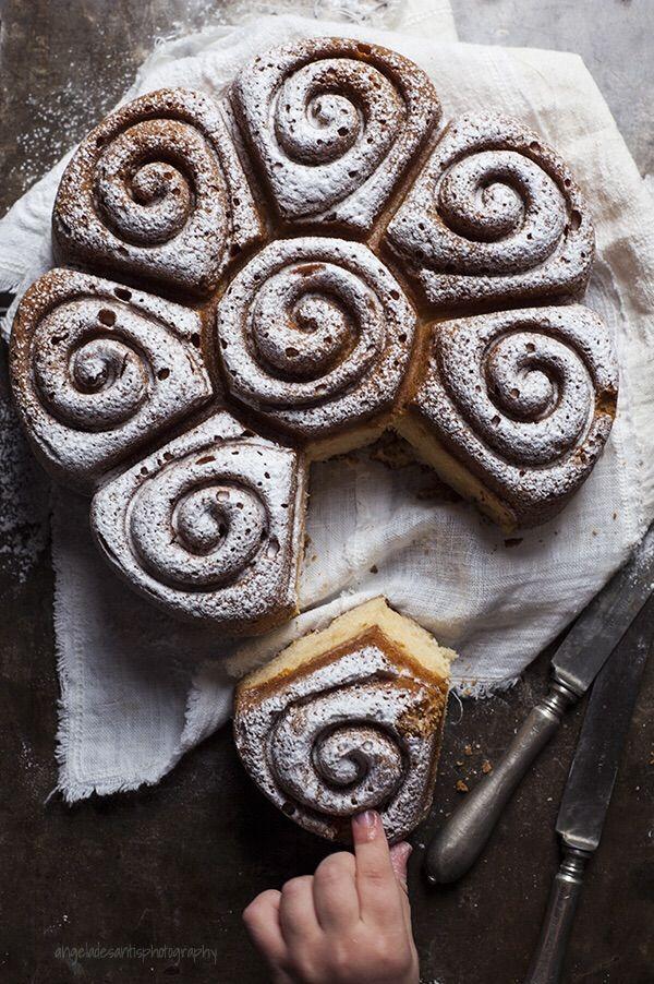 Torta miele limone e zenzero