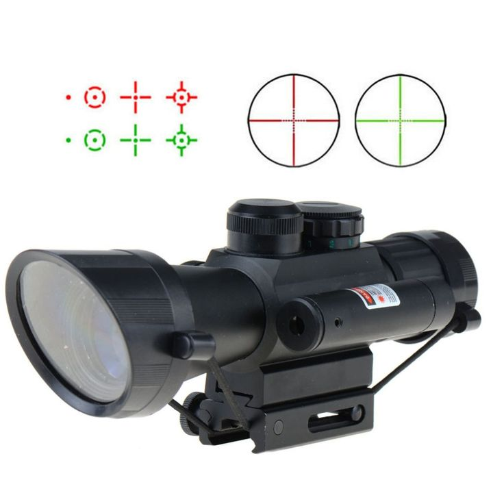 M7 4X30 tactical scope red laser sight illuminated R/G sapphire coating T28 #Affiliate