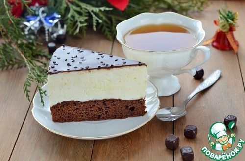 Торт-суфле на брауни - кулинарный рецепт