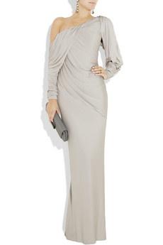 Donna Karan  Draped stretch-jersey gown