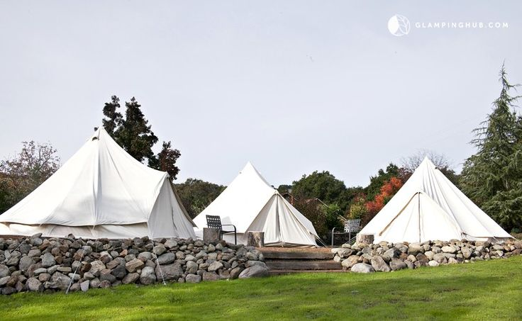 Deluxe Bell Tent Rentals at Camp West Sonoma with Pool near San Francisco