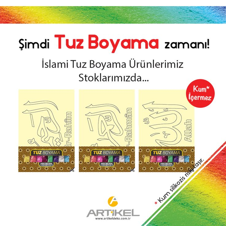 """""""İslami Tuz Boyama"""" Ürünlerimiz Stoklarımızda... #tuzboyama #art #artikeldeko"""