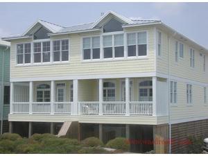 Topsail Island rental: A-Devine-View - Oceanfront 4 bedroom duplex in Topsail Beach,