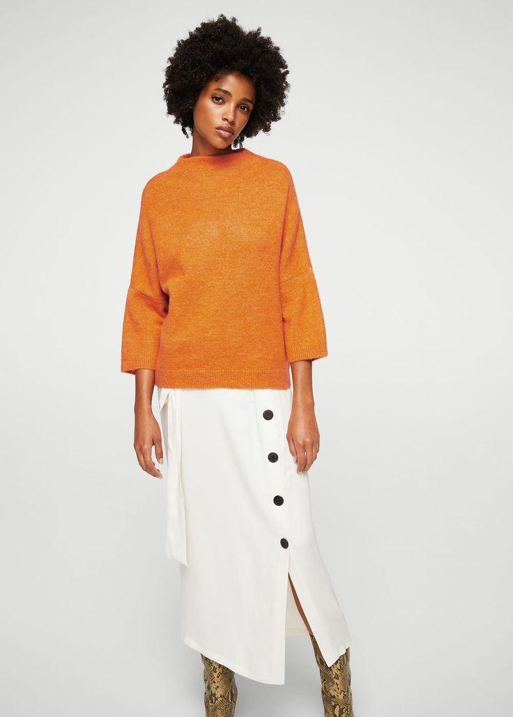 Úpletový svetr s texturou - Žena | MANGO Česká republika