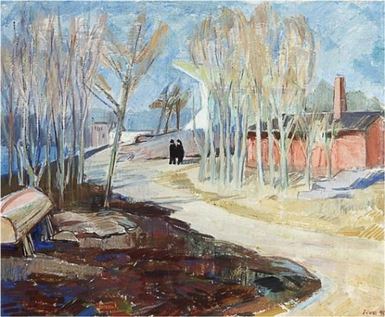 Tóólö Rowing Stadium, Helsinki - Tove Jansson 1940 Finnish painter 1914-2001
