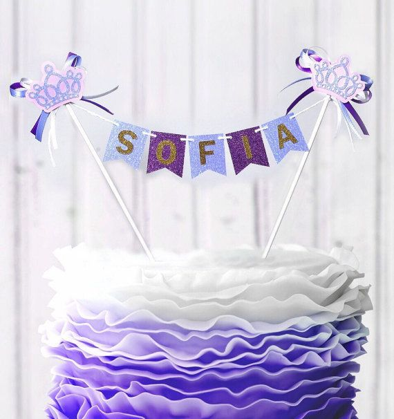 Sofia the First Cake bunting Personalized Cake by FancyPapersJC