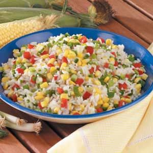 Corn rice recipe!! Yum!! -- Improve the flavor for any meal with Ac'cent - accentflavor.com - #accentflavor #corn #rice #tasty