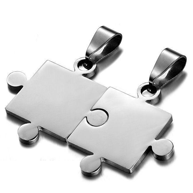 Puzzle partnerské přívěšky - hladké