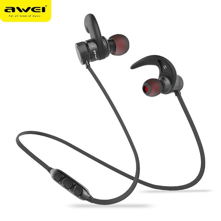 AWEI A920BLS Bluetooth Earphone A920BL Pro Wireless Headphone Sport Headset Auriculares Cordless Headphones Casque 10h Music //Price: $22.79//     #onlineshop