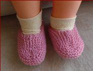 Baby slippers, PDF knitting pattern.