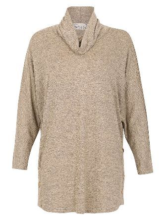 Dorothy Perkins Womens *Voulez Vous Camel Cowl Neck Trim Top- Voulez Vous camel snap side batwing top, cowl neck, oversized top. Length 76 cm. 97% Polyester, 3% Elastane. Machine wash at maximum 40 degrees, wash with similar colours, dry flat, iron on reverse. http://www.MightGet.com/april-2017-1/dorothy-perkins-womens-voulez-vous-camel-cowl-neck-trim-top-.asp
