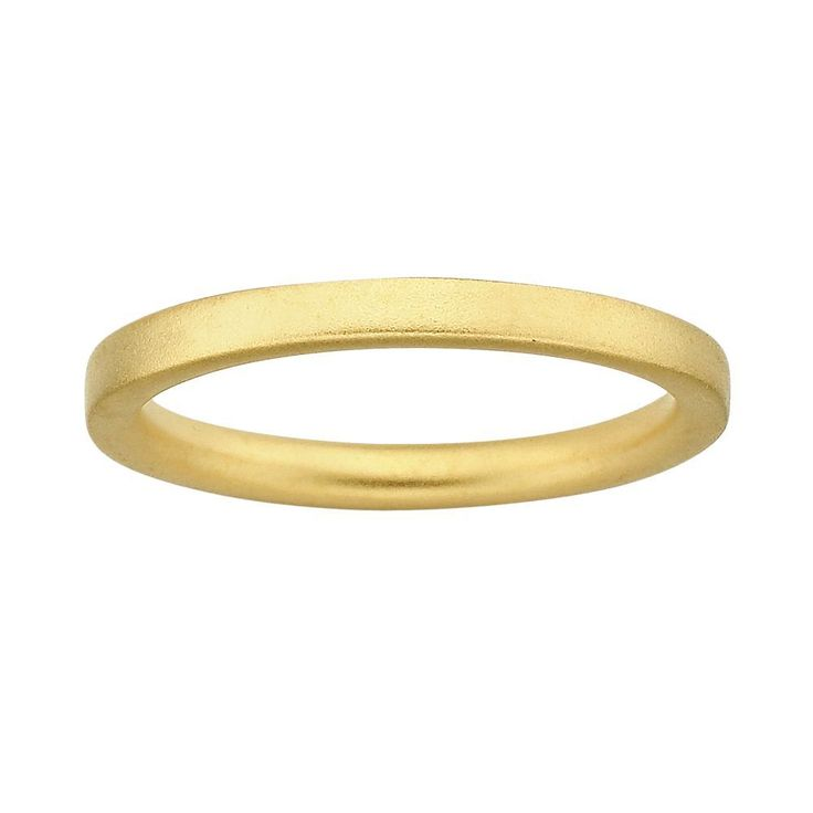 Stacks and Stones 18k Gold Over Silver Satin Finish Stack Ring, Women's, Size: 10, Yellow