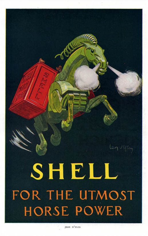 Poster for shell oil by jean dylen