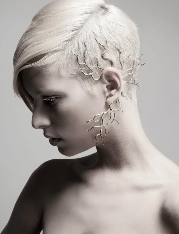 Cranium - brass ear cuff made by jewelry designer Hila Kaminer #jewellery #design #unique