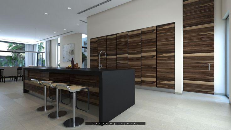 Private Villa Interior Project. Saudi Arabia. Kitchen Isle. #xzoomproject #modernvilla #interiordesign #interiordesignmaiami #luxuryinteriors #moderninteriordesign