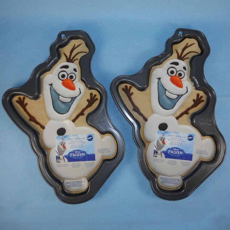Frozen Olaf Giant Cookie Pans Bakeware Set of 2 Wilton Disney NWT # 2105-8500 #Wilton #Disney #Frozen #Olaf