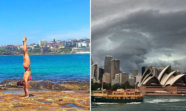 Sweltering temperatures give way to a massive thunderstorm in Sydney