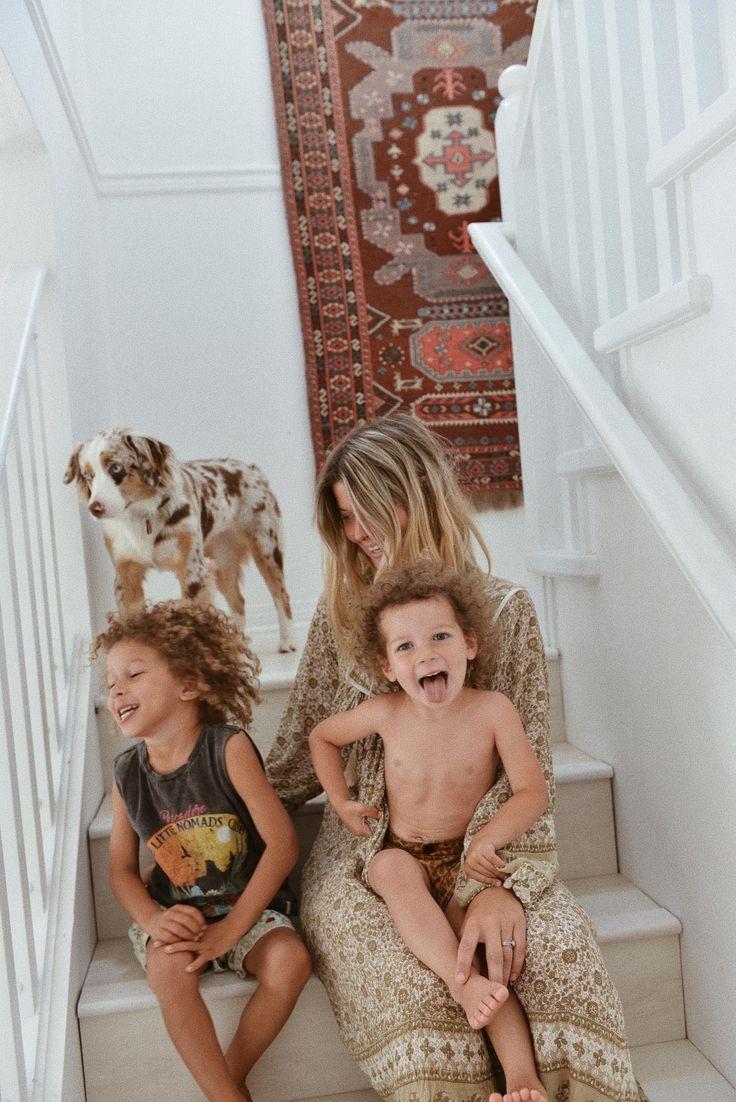 Sarah with her boys